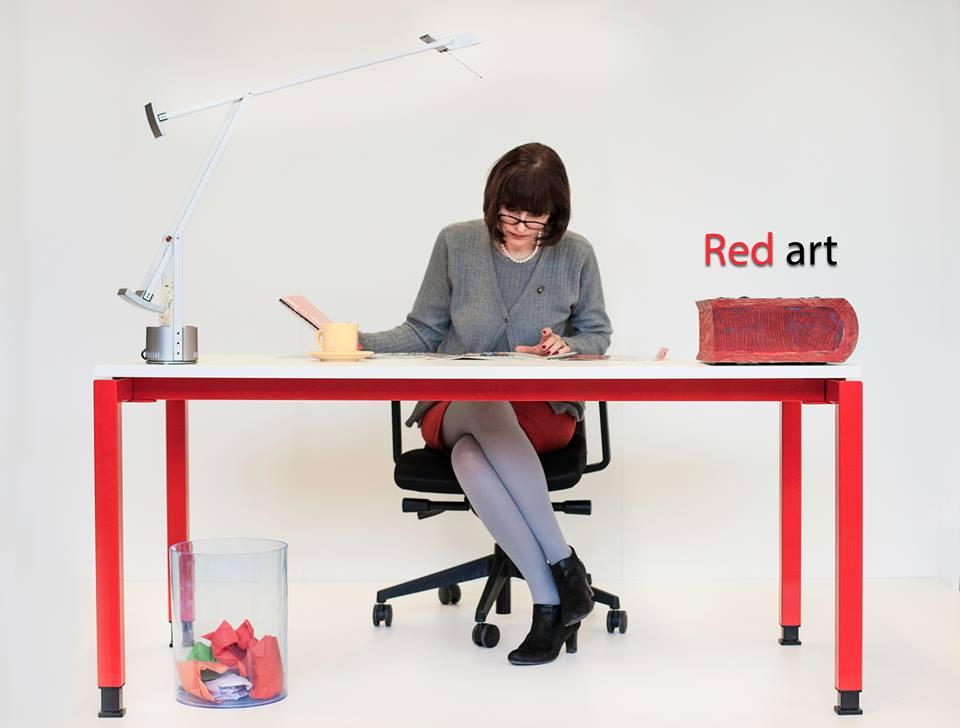 Mobilier birou Greenforest MOVI Red art