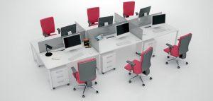 GreenForest - mobilier de birou qbd-420c-300x143 Sharedesk Operative Desks